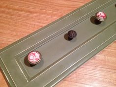 Coat or necklace holder repurposed cabinet door with by Redesign10, $40.00