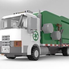 Garbage Collection, Garbage Truck, Lego City, Legos, Lego Products, Trucks, Product Ideas, Lego Ideas, Abandoned