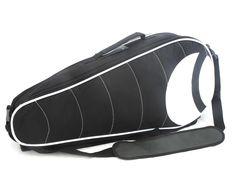 #taška #tenis Luxusní tenisová taška Bjorn Borg na zip. Uvnitř - jedná holá kapsa na raketu, druhá též na raketu a má dvě kapsičky na zip. Jedna kapsa z venku. Součástí tašky jsou popruhy na záda, které se dají uschovat do dna tašky.