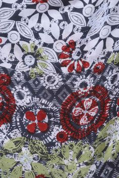 Our new Border Wood Cut Scarf is inspired by the worlds many forms of music, arts and dance celebrated at the Wiltshire festival, WOMAD. The floral print pattern is sat on a darker background, giving the additional colours emphasis, making a statement. Finished with a frayed hem, this is the perfect addition to any outfit.  100% Vicose