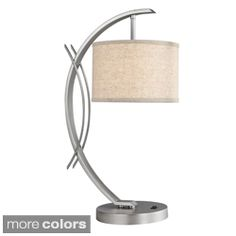 Shop for Eclipse 1-light Satin Nickel Table Lamp. Get free shipping at…