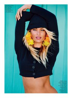 candice swanepoel patrick demarchelier2 Candice Swanepoel Soaks Up the Sun in Lucky Spread by Patrick Demarchelier