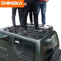 Cheap steel box, Buy Quality steel basket directly from China steel roof rack Suppliers: SHINEKA Car Exterior 135 x 106 x 15 cm Roof Rack Basket Metal Waterproof Luggage Carrier Box for Suzuki Jimny Suzuki Jimny Off Road, New Suzuki Jimny, Suzuki Jimny Interior, Roof Rack Basket, Car Roof Racks, Car Accessories, Electronics Accessories, Mitsubishi Pajero, Car Covers