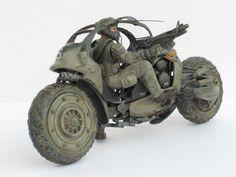 2輪 2台目完成 - tinamini.com Futuristic Motorcycle, Scooter Motorcycle, Futuristic Cars, Motorcycle Design, Bike Design, Concept Motorcycles, Cars And Motorcycles, Sci Fi Weapons, Concept Weapons