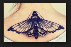 Love this moth tattoo! Would make a perfect under bust tattoo!