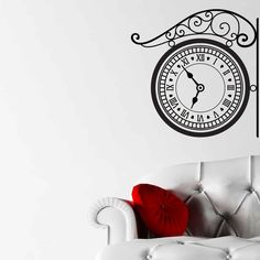 Awesome Hanging Clock Vintage Wall Sticker