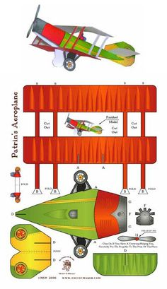 Avión de papel para imprimir