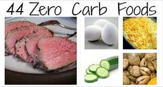 Nice to have big lists of things with zero carbs <3