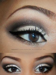 Black and White Eyeshadow