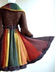Reconstructed sweater coat