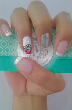 Uñas Fashion, Manicure Y Pedicure, Triangles, Hair Beauty, Nail Art, Nails, Nail Bling, White Nail, Nail Manicure