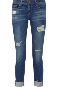 Frame Denim|Le Garcon distressed slim boyfriend jeans|NET-A-PORTER.COM