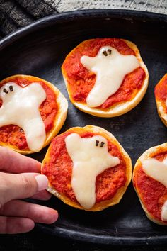 Ghost Pizza Bagels