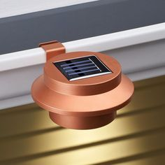 Copper Clip-on Gutter Solar Security Light Weather Resistant with 3 Bright LED #LEDLights #Copper #Solar #Security #3Bright #ClipOn #WaterResistant #WaikwayLights #Accessories #OutdoorLights #Lights #YardLights