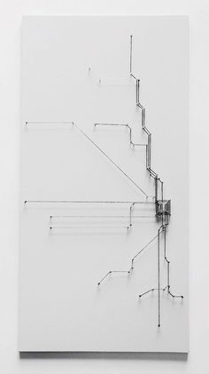 Jenn Kangas string art Chicago transit map I like this idea I could do something like this Architecture Mapping, Conceptual Model Architecture, Buddha Wall Art, Arch Model, Map Design, Grafik Design, Art Plastique, Public Art, Installation Art