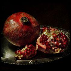 Pomegranate still life.