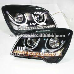 398.88$  Buy here - http://alixsu.worldwells.pw/go.php?t=672426679 - For KIA Sportage LED Head Lamp Angel Eyes 2012 U Type