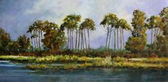 "Tall Pines by Anne-Karine Thoresen Oil ~ 24"" x 48"""