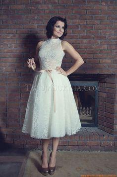 Designer Kurze Brautkleider aus Spitze