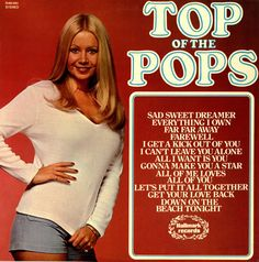 Top Of The Pops Volume 41 (1974 UK 12-track vinyl LP compilation, featuring more poptastic versions of all the potential hits that week,16