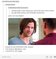The speed at which the SPN fandom takes over text posts is astonishing.