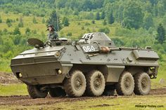 The / SKOT armored personnel carrier was jointly developed by Poland and Czechoslovakia. This APC is now obsolete and is currently replaced with modern designs. Tank Armor, Armoured Personnel Carrier, Armored Truck, Armored Fighting Vehicle, Armored Vehicles, Apc, Cold War, Military Vehicles, Heavy Metal