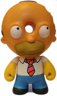 'Donut Head Homer' by Matt Groening and produced by Kidrobot for their 'Treehouse of Horrors' series.