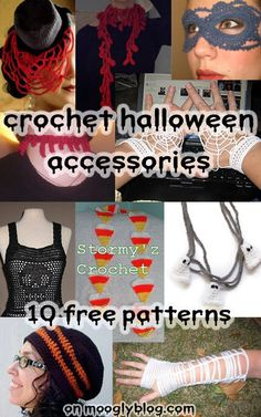 Spice It Up with Crochet Halloweeen Accessories! Free pattern roundup on mooglyblog.com