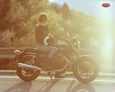 Photographer Scott Pommier for a MotoGuzzi motorcycle ad.