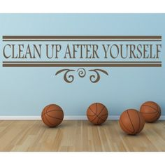 Clean Up After Yourself Wall Sticker Home And Living Wall Art Decal - Quotes & Slogans - Kitchen - Home & Living Clean Living, Home And Living, Cleaning Quotes, Wall Decals, Wall Art, Kitchen Wall Stickers, Wall Quotes, Clean Up, Spice Things Up
