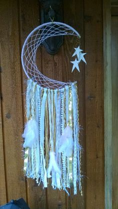 Pink, gold and white dream catcher