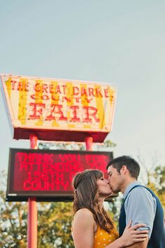 Carnival engagement   Photo by Look Here Photography   100 Layer Cake