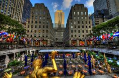 Rockefeller Center - Sunken Plaza | Flickr - Photo Sharing!