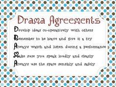 Classroom Drama Agreements
