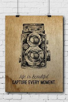 POSTER006 Photography Poster Life is Beautiful - Backdrop Outlet - 1
