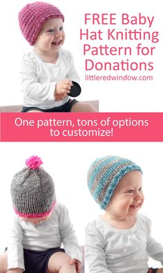 8f63ae5218b The Do-Gooder Free Baby Hat knitting pattern has a free pdf download