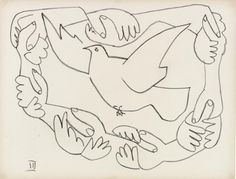 Picasso: Peace and Freedom: Room The Dove of Peace Picasso Sketches, Picasso Drawing, Picasso Paintings, Painting & Drawing, Illustration Photo, Illustrations, Graphic Illustration, Guernica, Pablo Picasso
