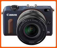 Canon EOS M2 Mark II 18.0 MP Digital Camera with 18-55MM F/3.5-5.6 IS EF-M STM Lens (Blue) - International Version (No Warranty) - Photo stuff (*Amazon Partner-Link)