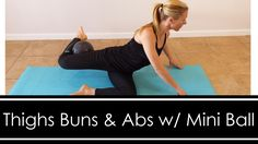 Using a mini ball this quick workout will target your abs, butt, and thighs. This is the perfect workout to add after your cardio or your upper body routine. Pilates Abs, Pilates Reformer, Pilates Workout, Hiit, Barre Workouts, Butt Workouts, Hatha Yoga, Workout Videos, Exercise Videos