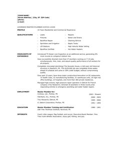 Marvelous Resume Objective Examples For Electrician And Plumber Template