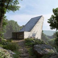 Alpine+chapel+designed+by+Joaquim+Portela+Arquitetos+as+a+giant+light+funnel