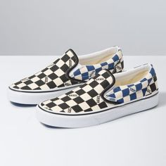 Checkerboard Slip-On | Shop Classic Shoes At Vans Vans Gum Sole, Cute Vans, Vans Store, Vans Original, Vans Checkerboard, Cute Sneakers, Shoes Sneakers, Popular Shoes, Vans Slip On
