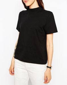 Image 3 of ASOS The High Neck T-Shirt