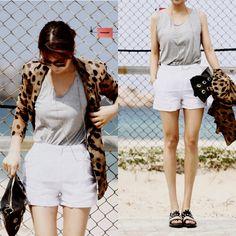 White Rose Linen Dress Shorts