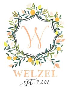 Custom Family Crest Heraldry by julietgracedesign on Etsy Monogram Design, Monogram Letters, Wedding Stationery Inspiration, Fruits Images, First Anniversary Gifts, Flower Clipart, Family Crest, Crests, Kawaii