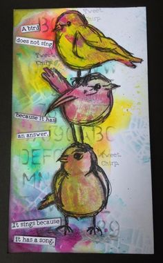 A Little Birdy Told Me by Donna Ratcliff | That's Blogging Crafty!