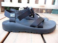 Mens CHACO Black Nylon Sport Sandals 10 VGC