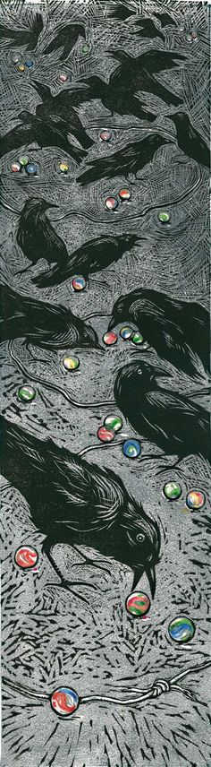 Lori Biwer-Stewart http://lbstewart.com/shop/shinythings/ My birthday art for this year!?!