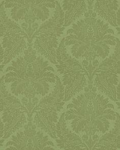 Malmaison Peridot Wallpaper By Zoffany Damask Direct Designer Green And