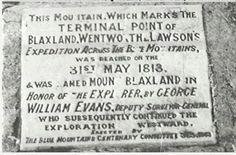 Blaxland,Wentworth and Lawson memorial plaque
